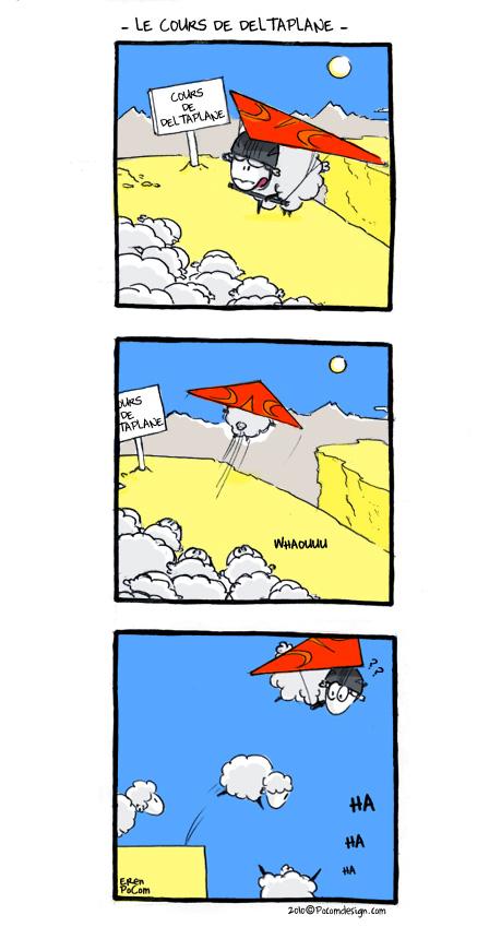 05 mouton le cours de deltaplane - colorisation test