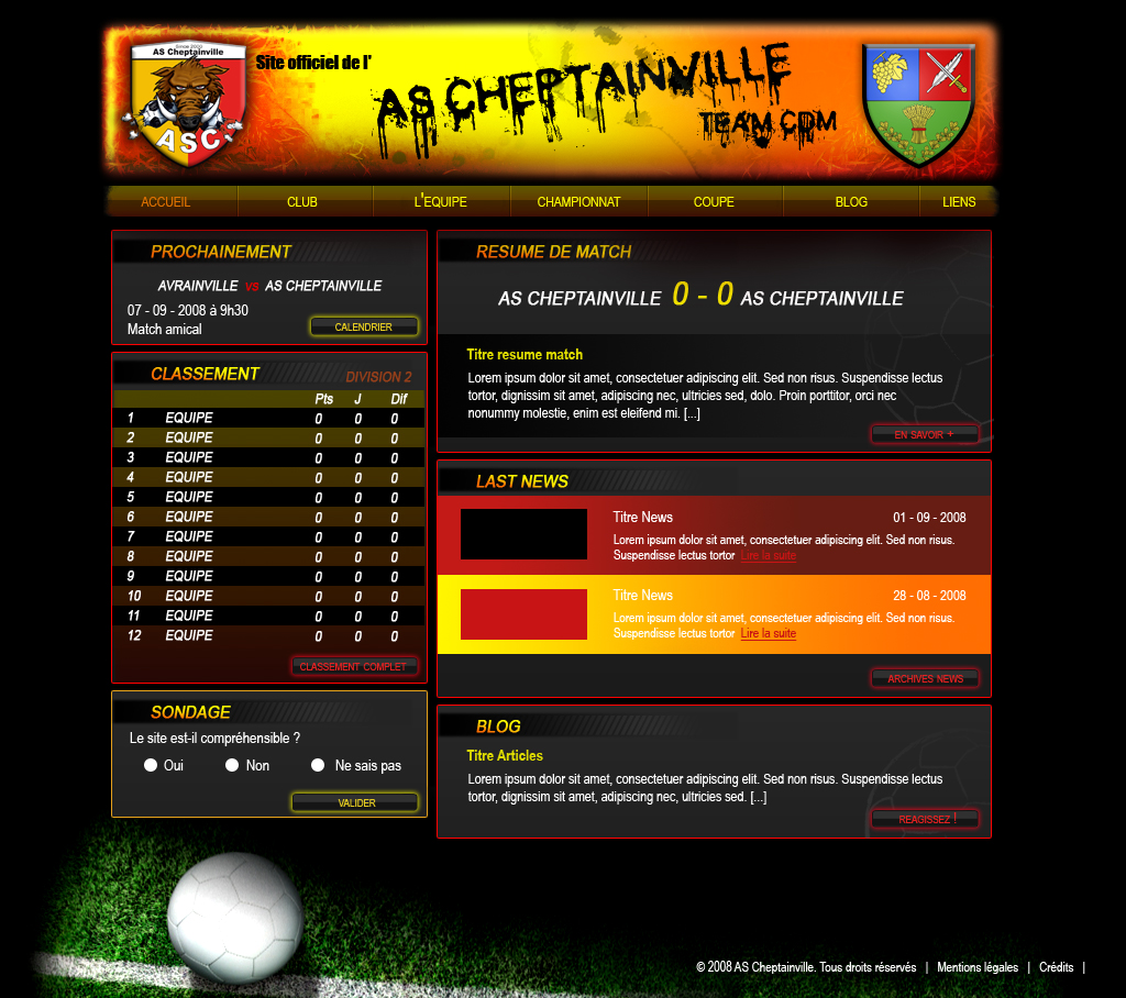 AS Cheptainville - accueil