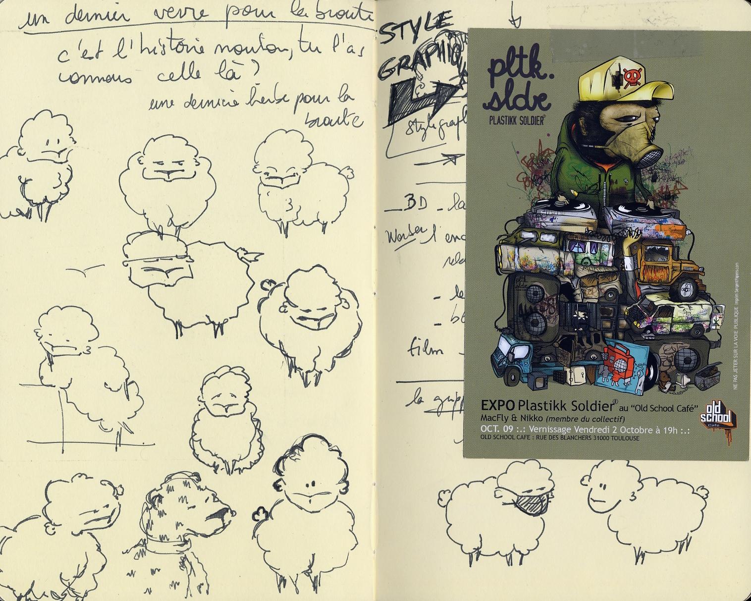 Histoires de moutons - recherches stylisques - Character design