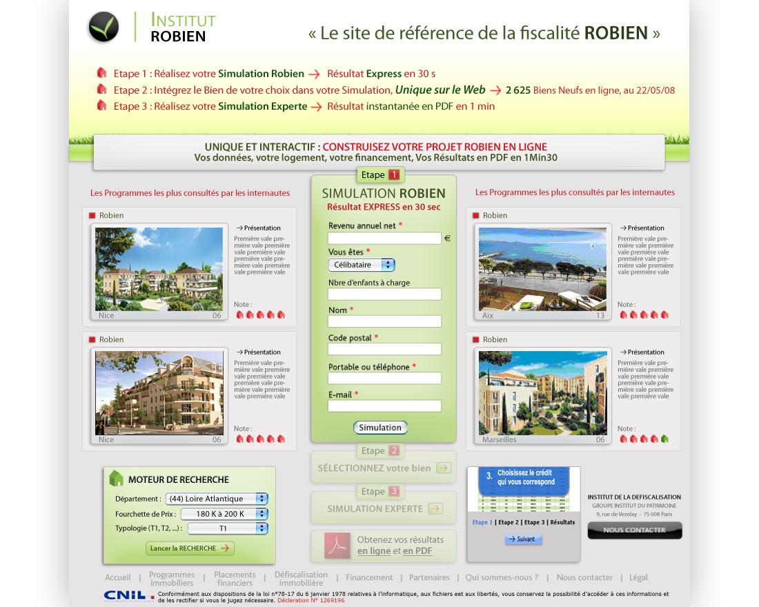 Landing page Robien