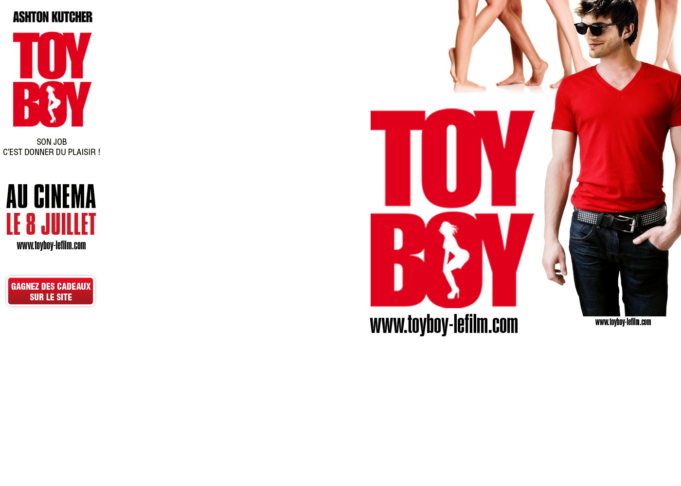 TOYBOY habillage sur le site MTV - background