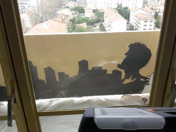 jazzman balcon - decor et personnage
