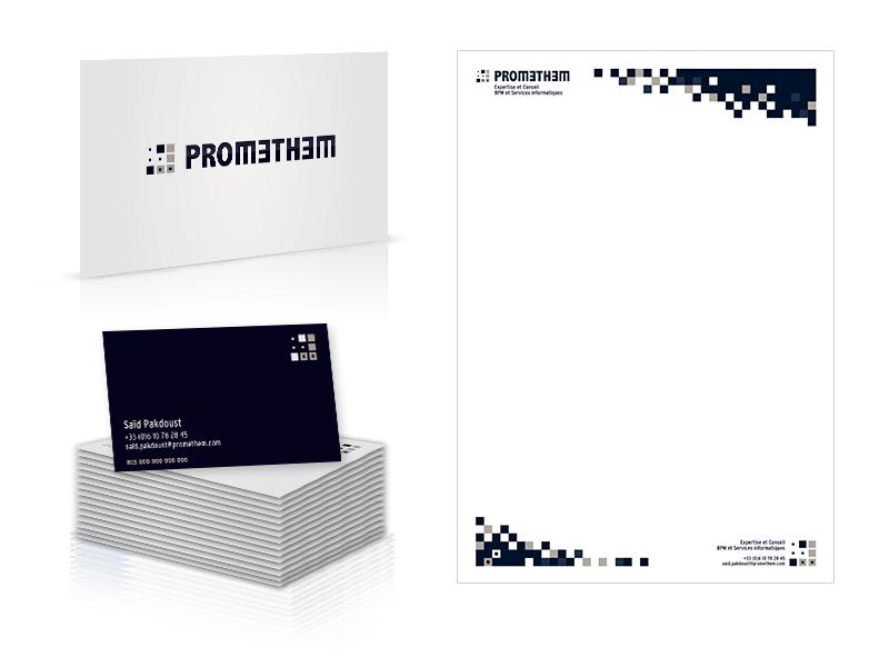Promethem - carte de visite et entête de document