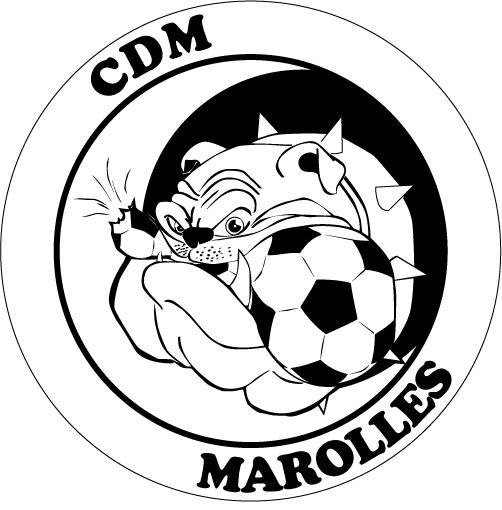 logo CDM Marolles Noir et Blanc