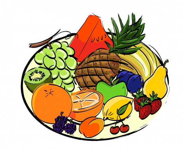 Nathalie Leroy - assiette de fruits