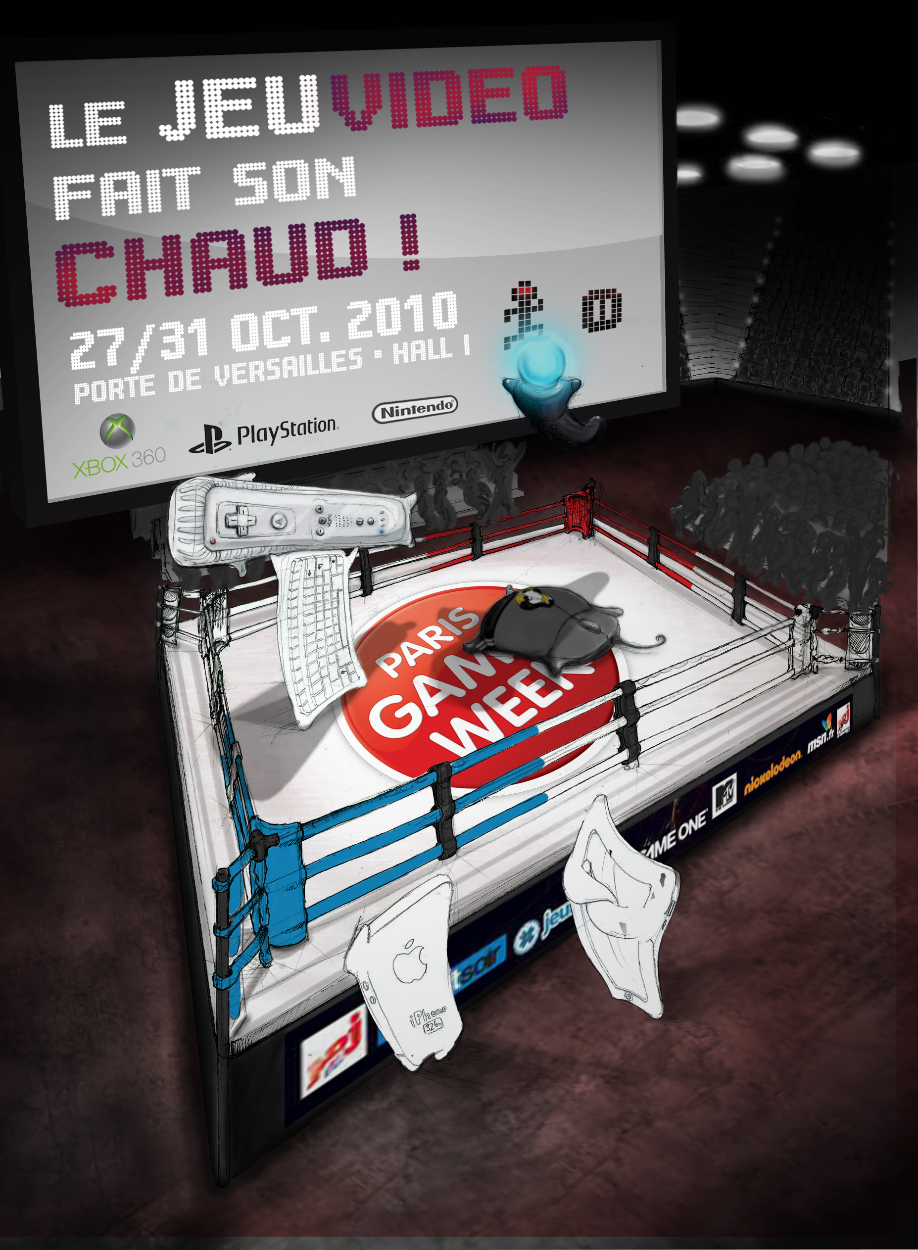 affiche Paris Games Week étape 08