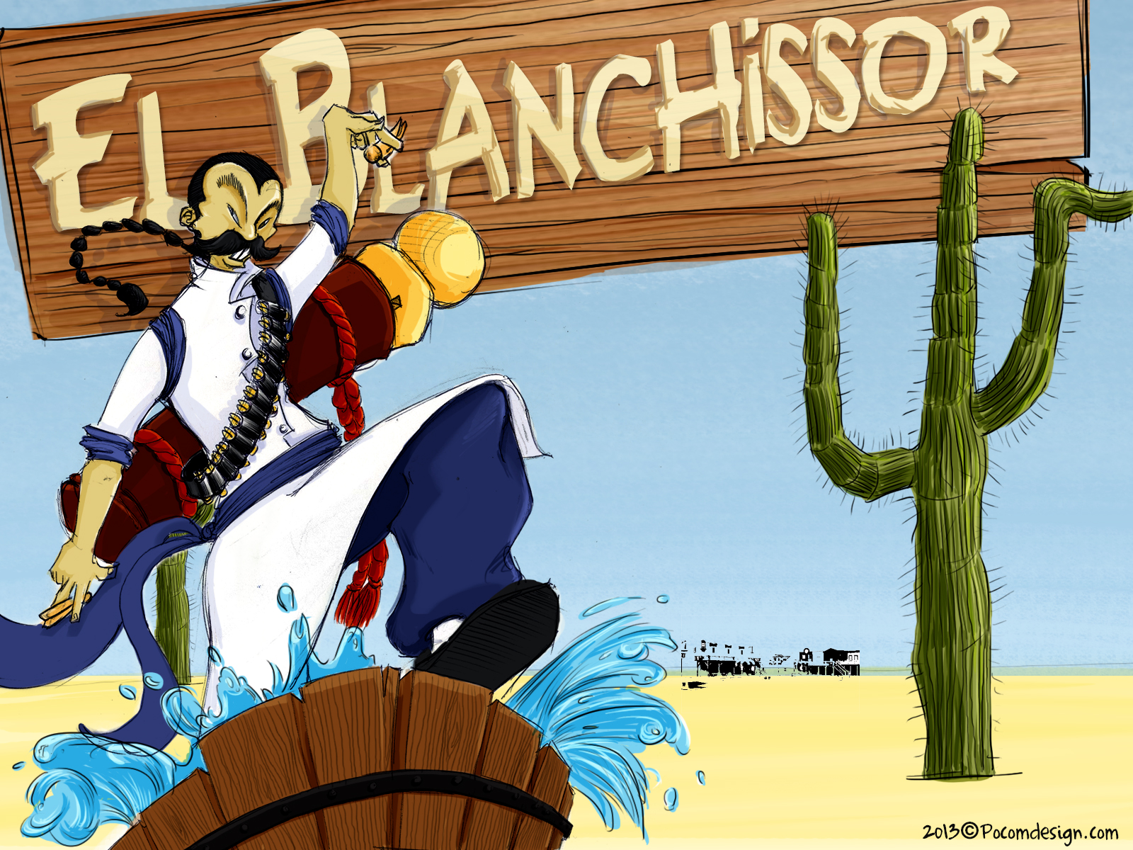 El blanchissor illustration finale