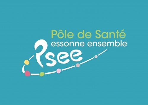 PSEE logo fond bleu clair