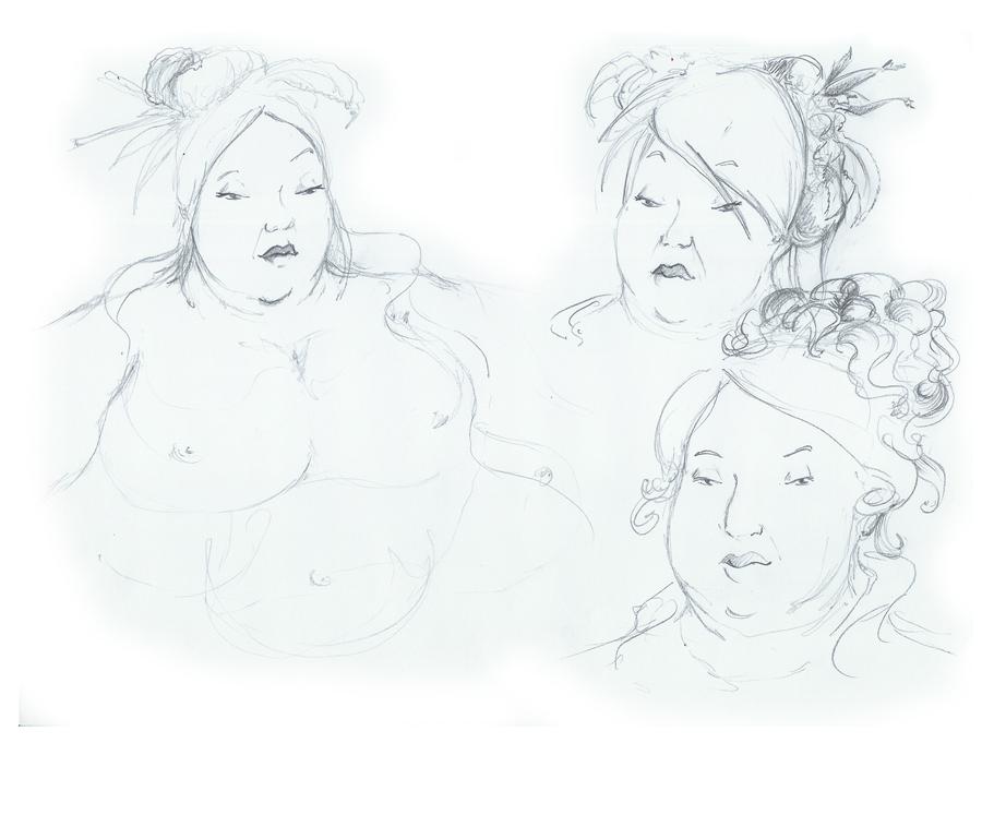 Grosse Dame - expression 02