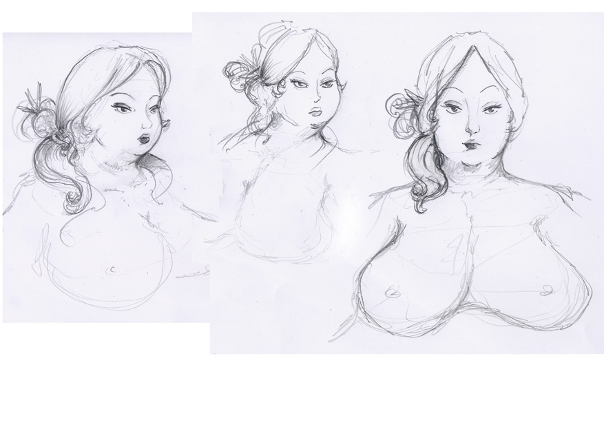 Grosse Dame - expression 04