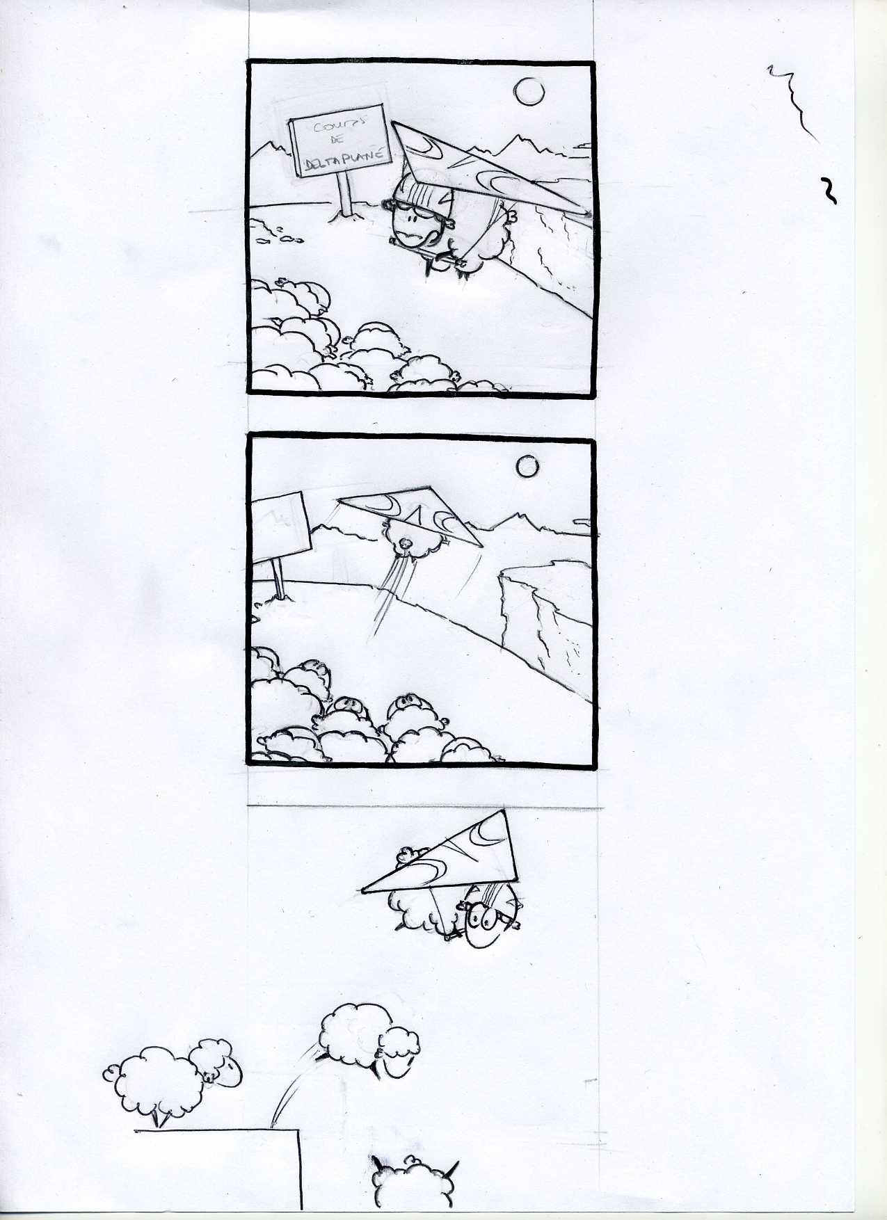 05 mouton le cours de deltaplane - encrage