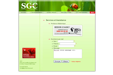 SGC - page contact