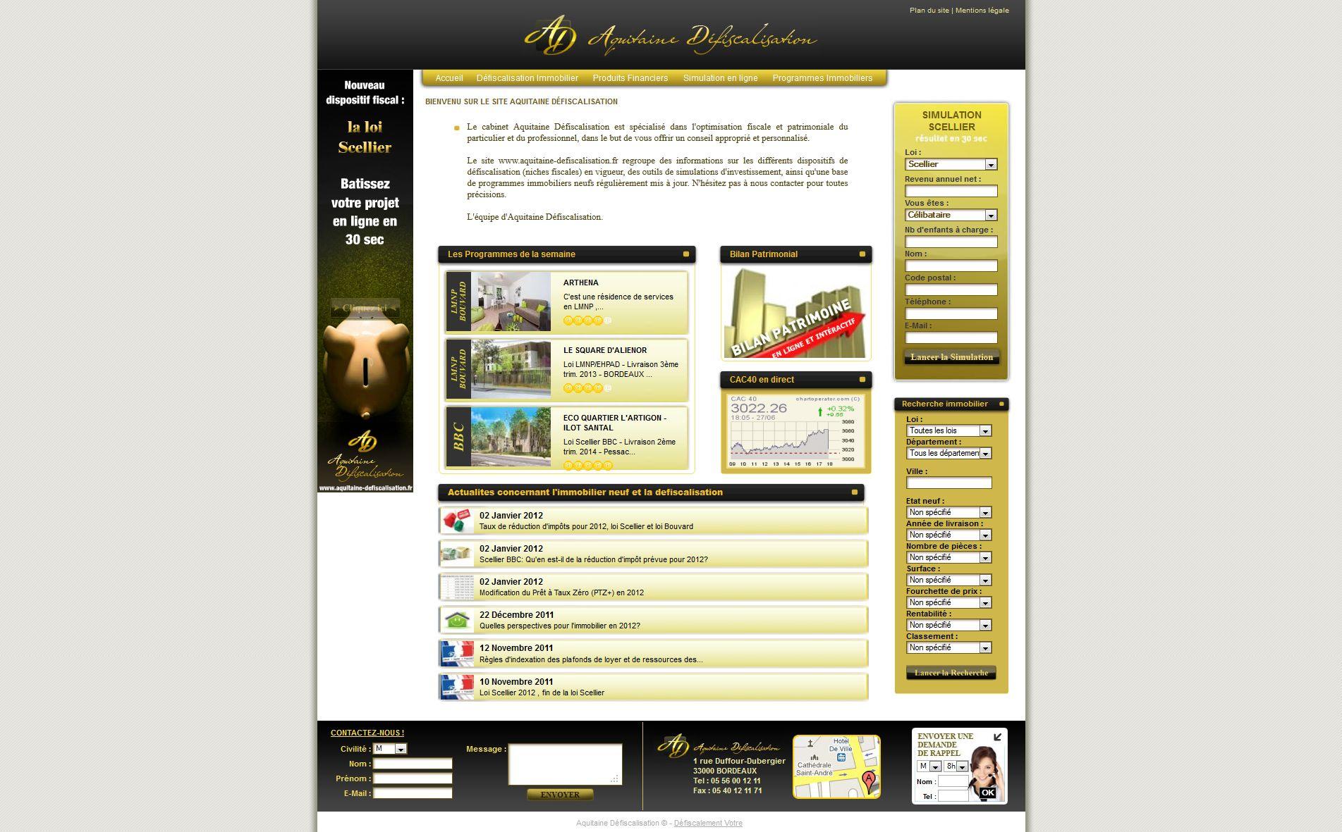 Aquitaine Desfiscalisation