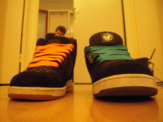 Photo Shoes Blue and Orange