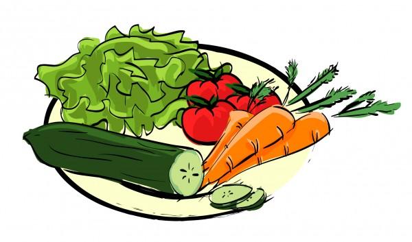Nathalie Leroy - assiette de légumes