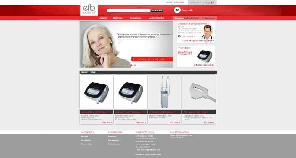 efb beaut u00e9 - site ecommerce